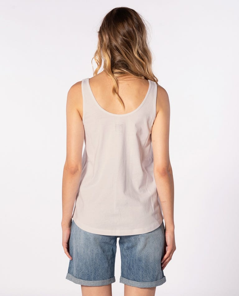 RIP CURL Iconic Tank Women's Bone WOMENS APPAREL - Women's Tank Tops and Halter Tops Rip Curl