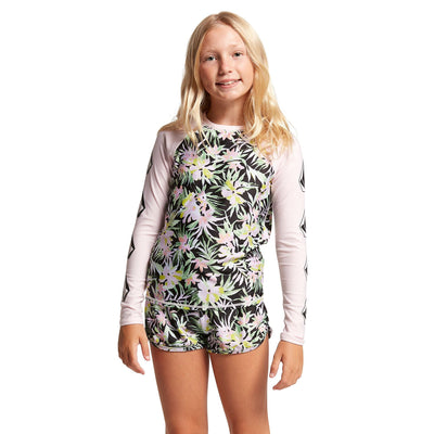 VOLCOM On Tropic Long Sleeve Rashguard Girls Multi WAKEBOARD & SURF EQUIPMENT - Rashguards Volcom XS