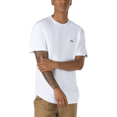 Vans Left Chest Logo T Shirt White