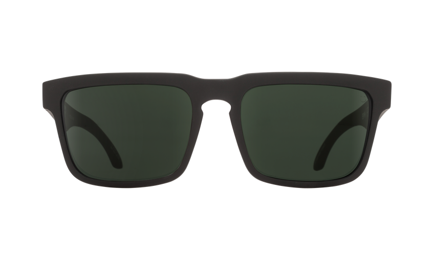 SPY Helm Soft Matte Black - Happy Gray Green Sunglasses