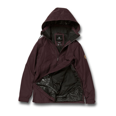 VOLCOM Fern Insulated GORE-TEX Pullover Snowboard Jacket Women's Black Red 2021