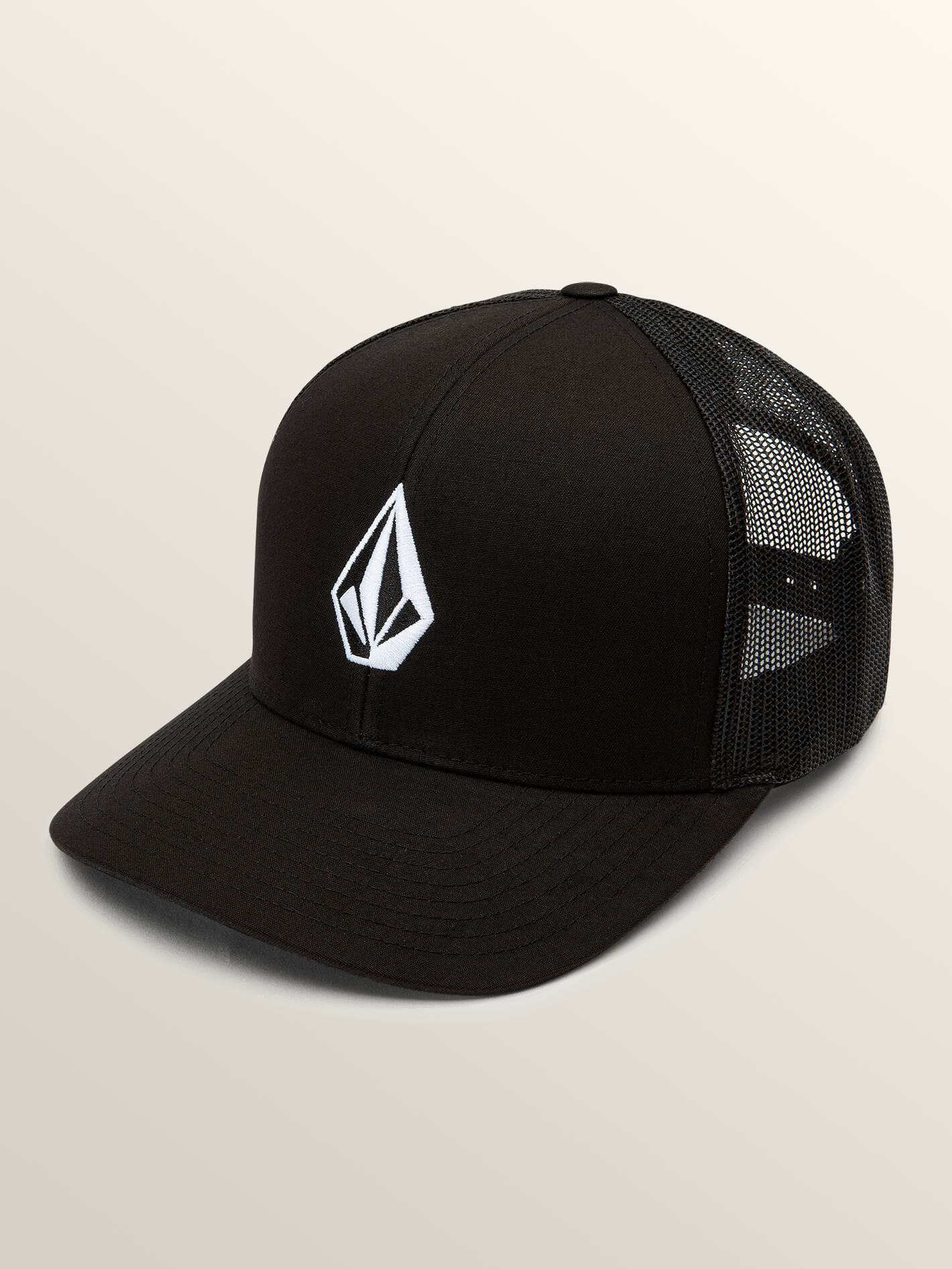 new styles c4a12 f20bc VOLCOM Full Stone Cheese Trucker Hat New Black