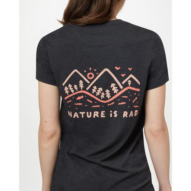 TENTREE Nature Is Rad Classic T-shirt Women's Meteorite Black Heather WOMENS APPAREL - Women's T-Shirts Tentree