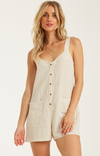 BILLABONG All Happening Romper Women's Almond WOMENS APPAREL - Women's Jumpers and Rompers Billabong