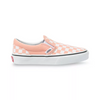 VANS Classic Slip-On Kids Shoes Salmon/True White Checkerboard