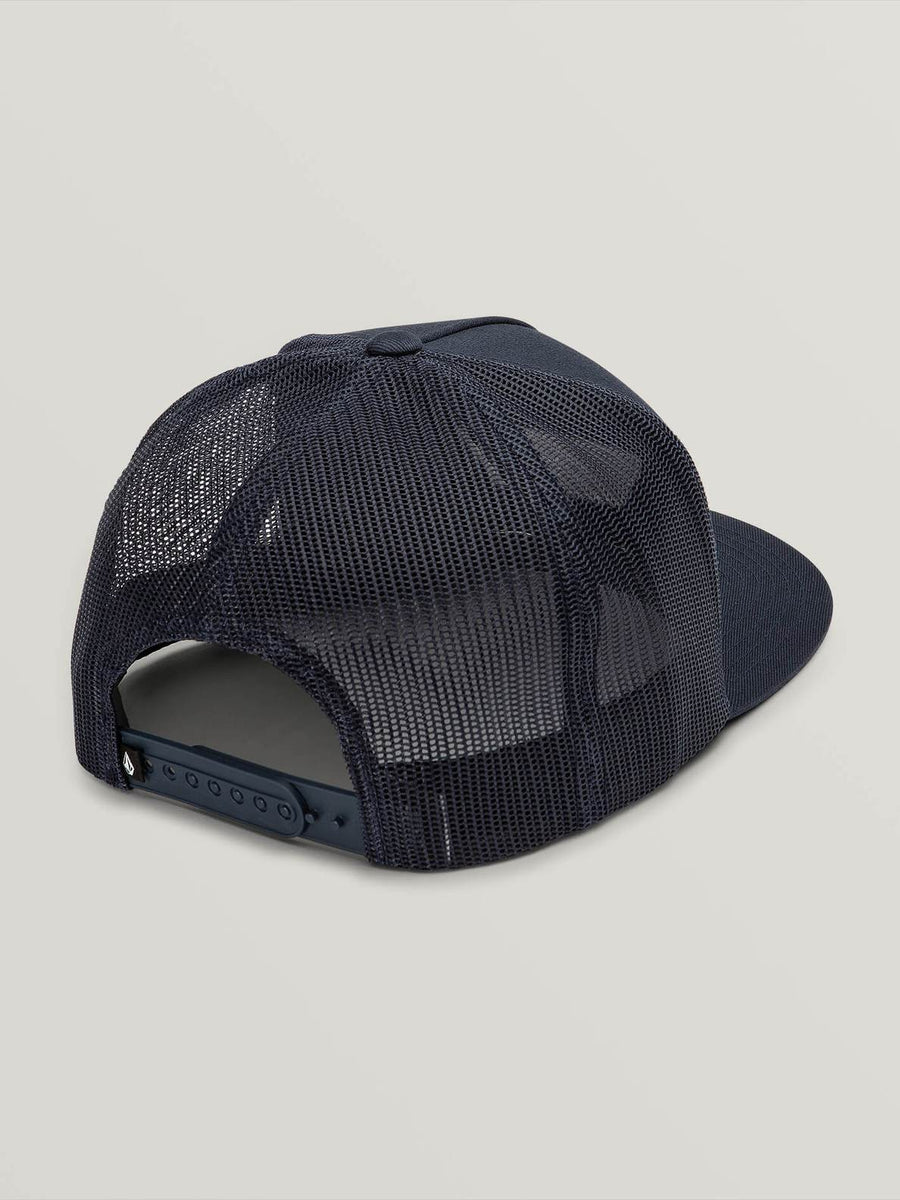 VOLCOM Trapezoid Cheese Boys Snapback Hat Navy KIDS APPAREL - Boy's Hats Volcom