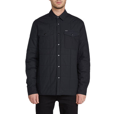 VOLCOM Larkin Quilted Jacket Black MENS APPAREL - Men's Street Jackets Volcom L