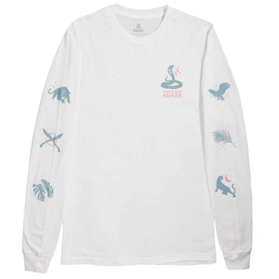ROARK Wildlife L/S T-Shirt White MENS APPAREL - Men's Long Sleeve T-Shirts Roark Revival