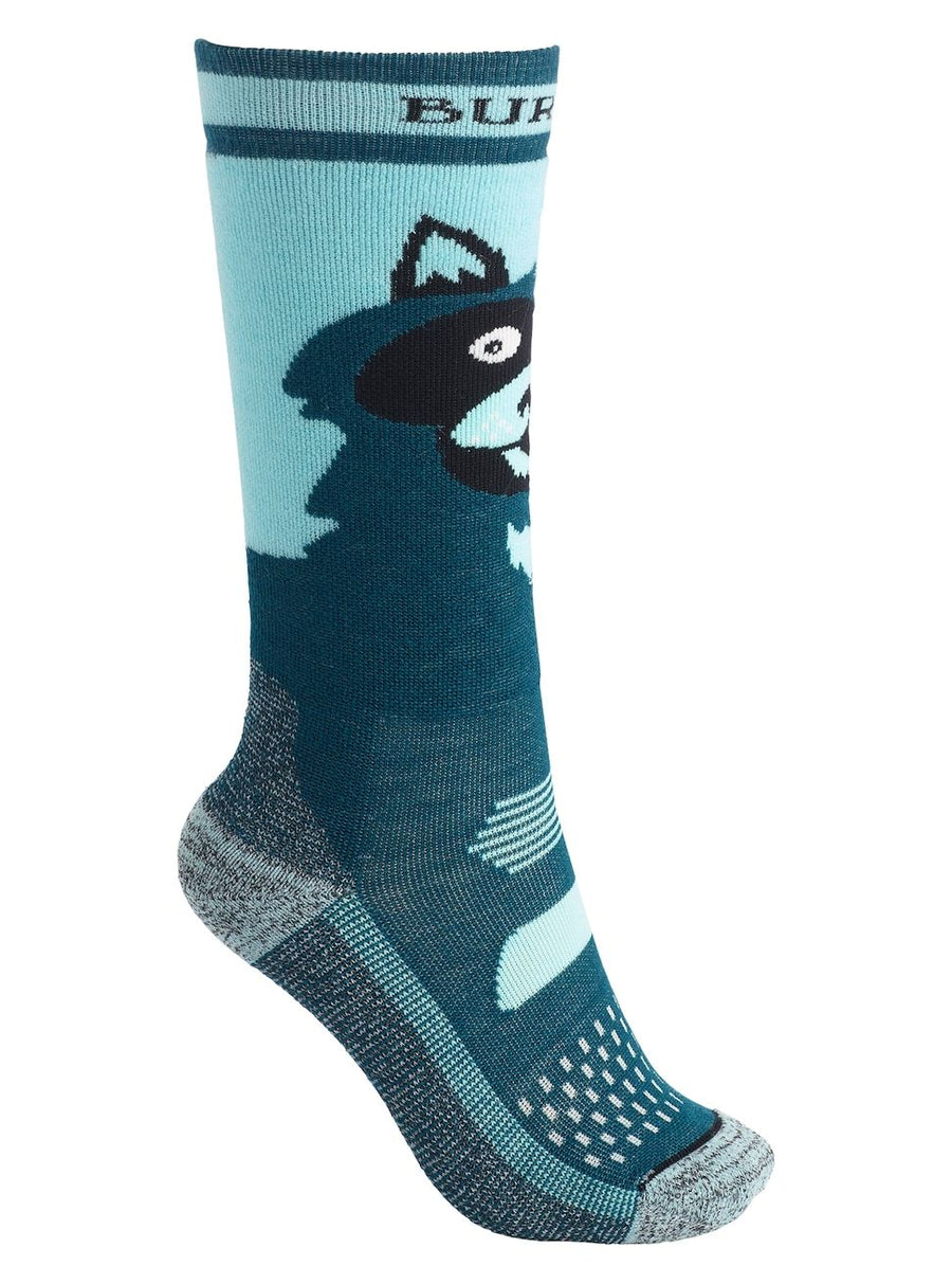 BURTON Performance Midweight Snowboard Socks Kids Raccoon SNOWBOARD ACCESSORIES - Youth Snowboard Socks Burton