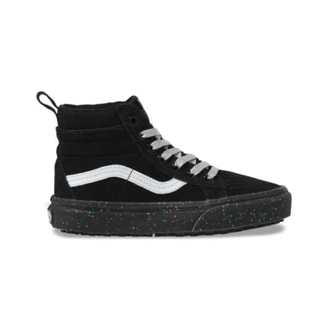 VANS Sk8-Hi MTE Kids Shoe Glitter Sidewall/Black FOOTWEAR - Youth and Toddler Skate Shoes Vans