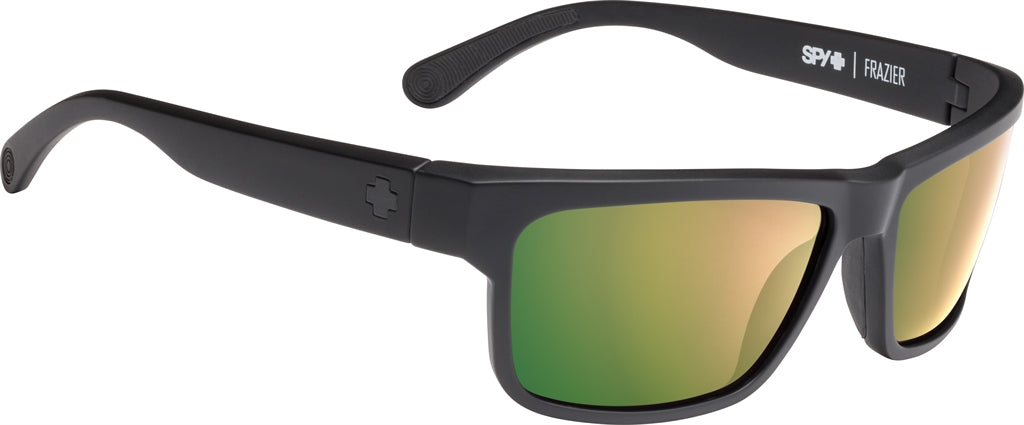 fef1114bd2 SPY Frazier Soft Matte Black - Happy Rose Polarized w  Green Gold Spectra  Sunglasses