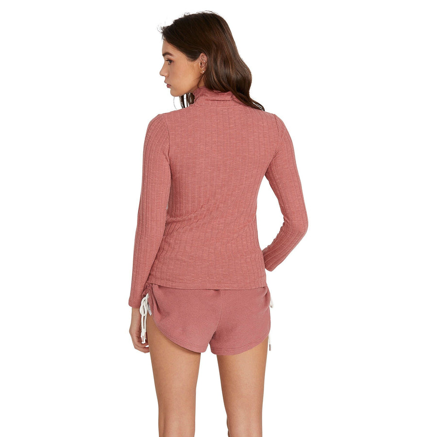 VOLCOM Lived In Lounge L/S Women's Rose Wood