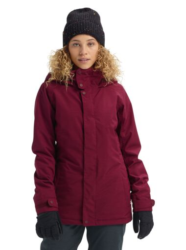 BURTON Jet Set Women's Snowboard Jacket Port Royal Heather 2020 WOMENS OUTERWEAR - Women's Snowboard Jackets Burton