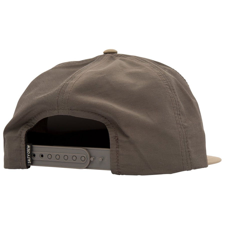 SALTY CREW Tippet Tech 5 Panel Hat Charcoal