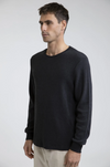 RHTYHM Essential Waffle Knit L/S T-Shirt Vintage Black MENS APPAREL - Men's Long Sleeve T-Shirts Rhythm