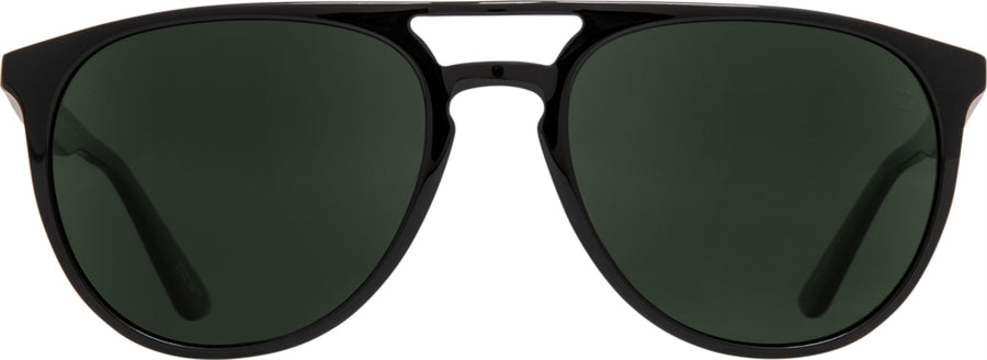 SPY Syndicate Black - Happy Grey Green Polarized Sunglasses