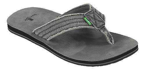 SANUK Fraid Not Sandals Charcoal FOOTWEAR - Men's Sandals Sanuk 10