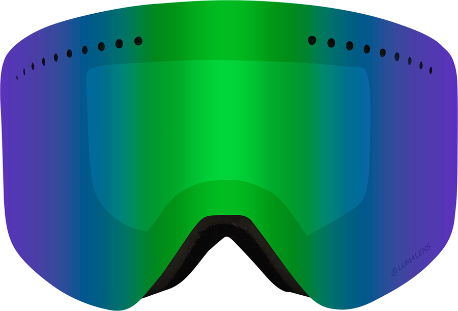 DRAGON NFX Split - Luma Lens Green Ion + Amber Snow Goggle GOGGLES - Dragon Goggles Dragon