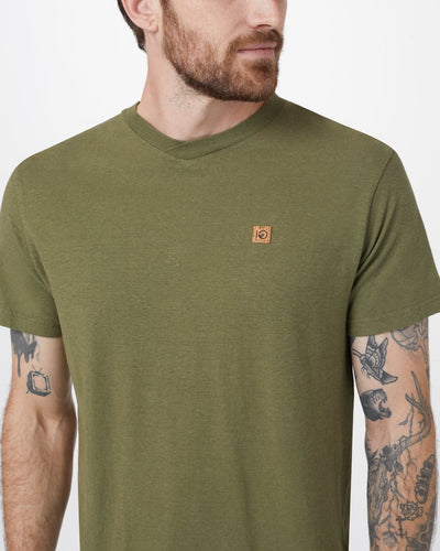 TENTREE Boulder V-Neck T-Shirt Moss Green