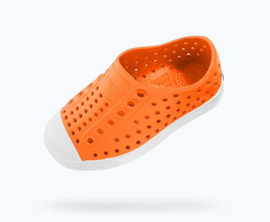 NATIVE Jefferson Child Shoes City Orange/Shell White FOOTWEAR - Youth Native and People Shoes Native Shoes