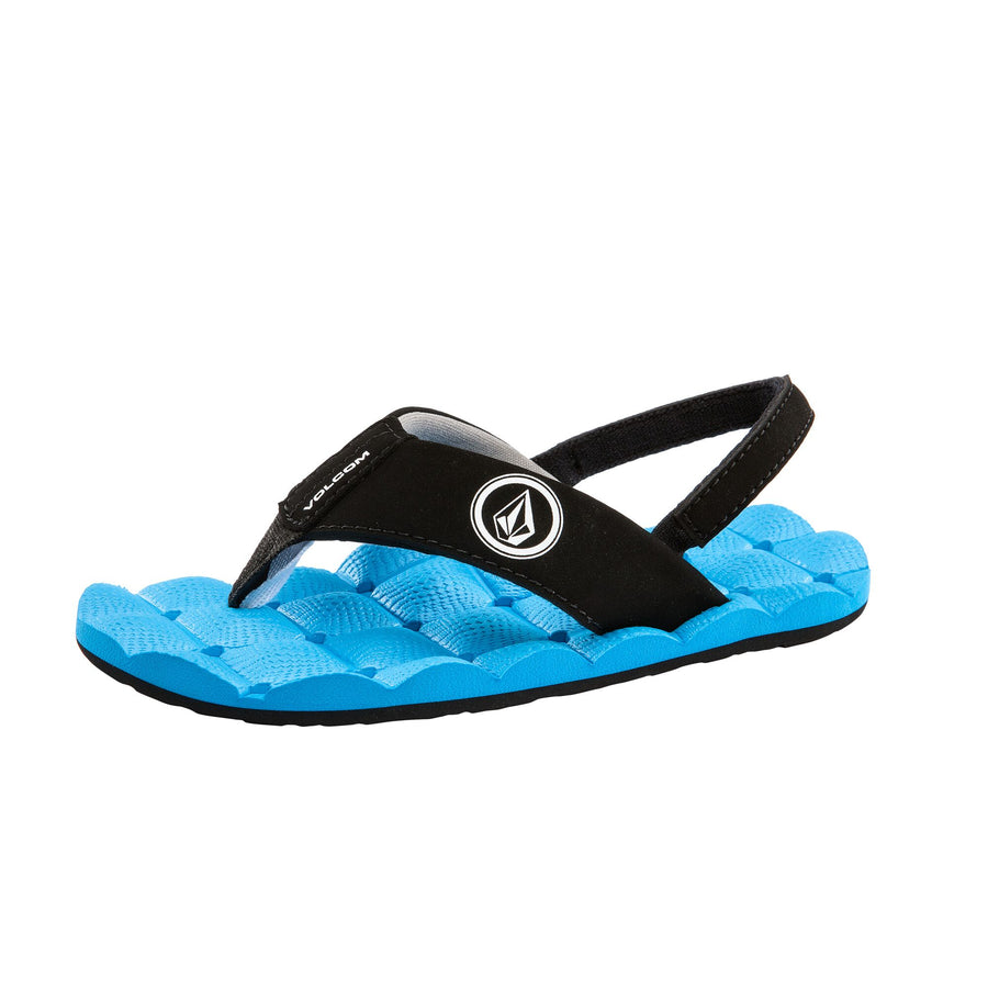VOLCOM Recliner Sandals Little Boys Marina Blue