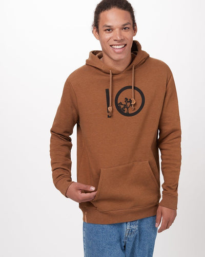 TENTREE Ten Pullover Hoodie Rubber Brown Heather MENS APPAREL - Men's Pullover Hoodies Tentree M