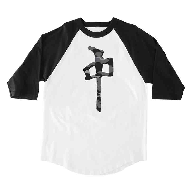 RDS Black Camo Chung 3/4 T-Shirt White/Black MENS APPAREL - Men's 34 Sleeve T-Shirts RDS