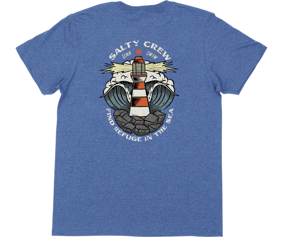 SALTY CREW Beacon T-Shirt Blue Heather MENS APPAREL - Men's Short Sleeve T-Shirts Salty Crew