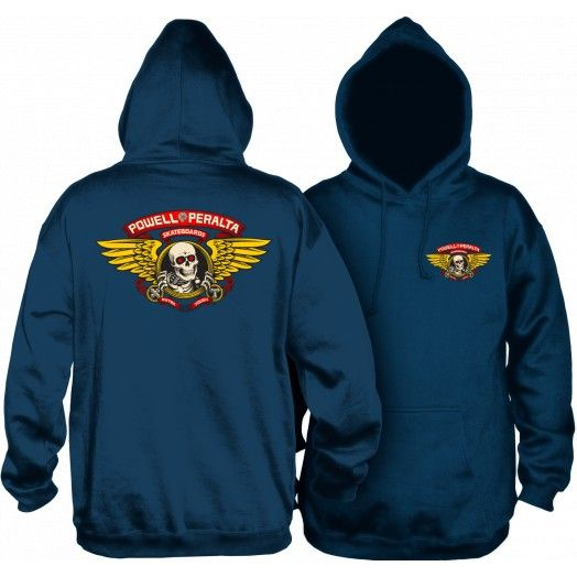 POWELL PERALTA Winged Ripper Pullover Hoodie Navy