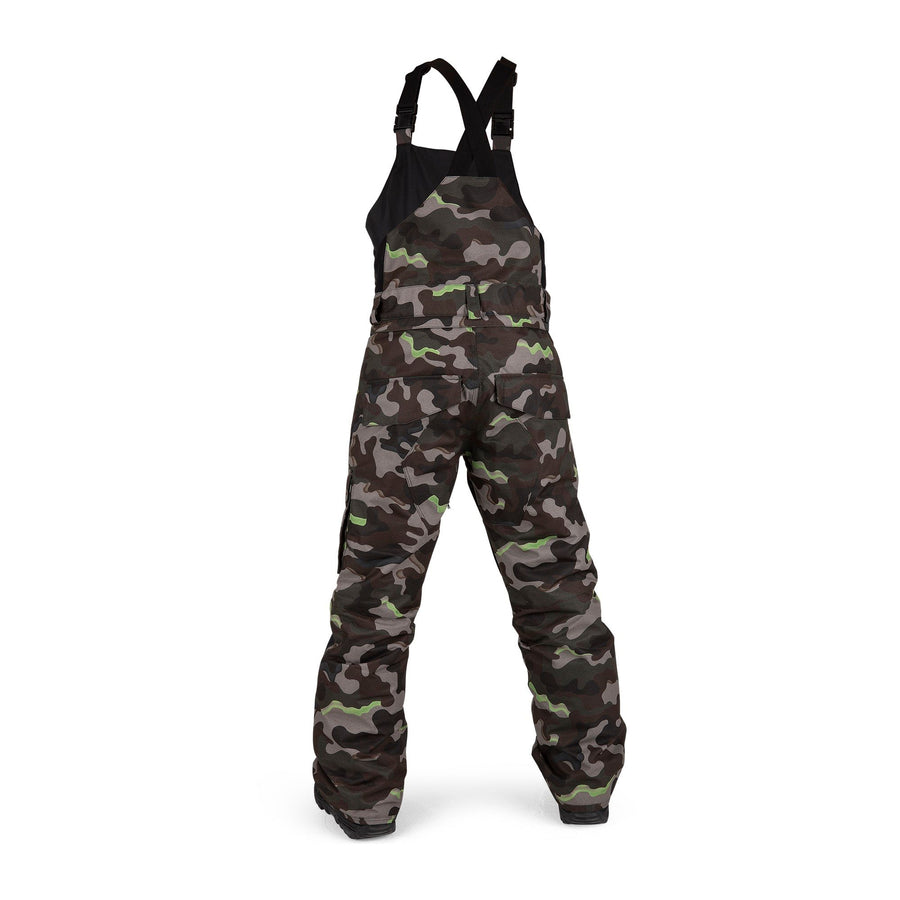 VOLCOM Barkley Bib Overall Snowboard Pants Youth Army 2021 YOUTH INFANT OUTERWEAR - Youth Snowboard Pants Volcom