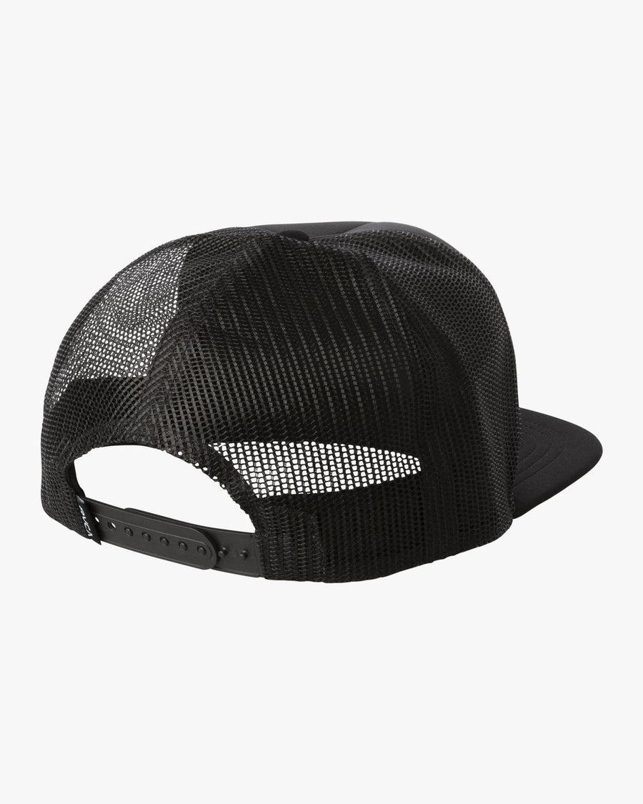 RVCA Hawaii Hex Trucker Hat Black MENS ACCESSORIES - Men's Baseball Hats RVCA