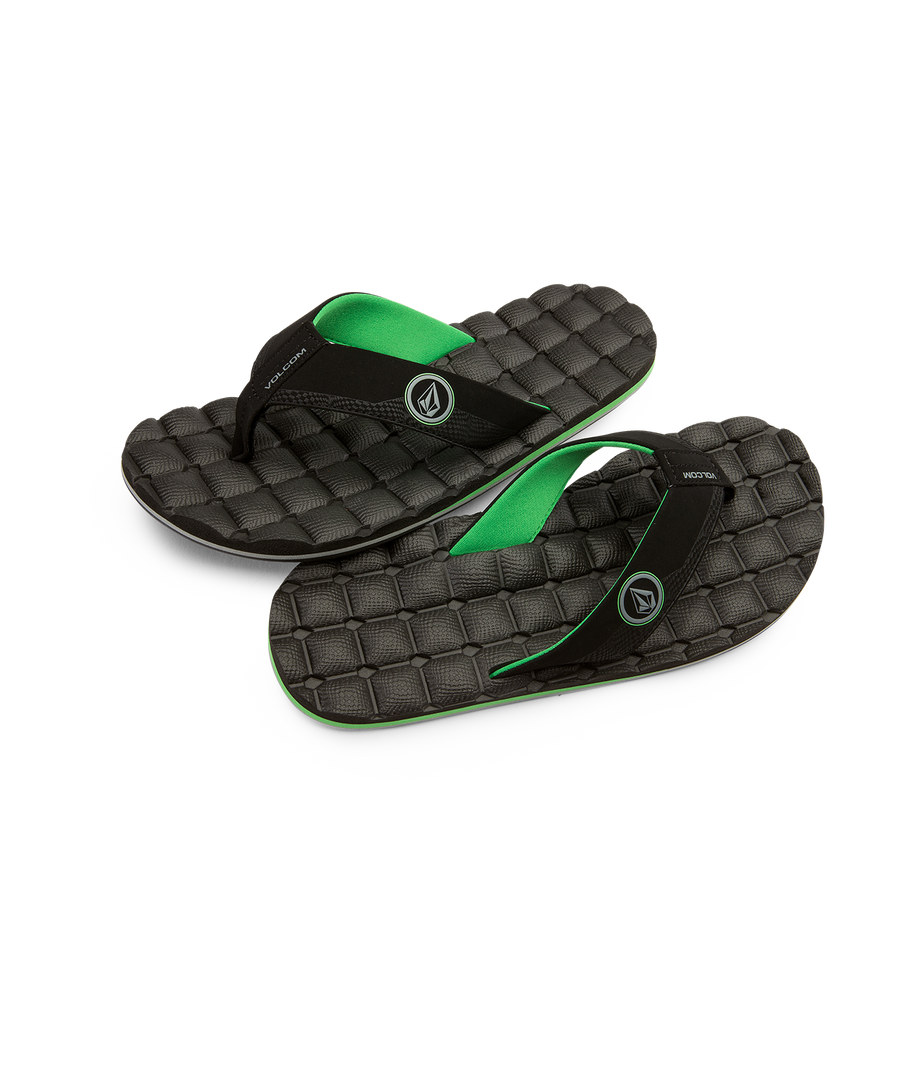 VOLCOM Recliner Sandals Poison Green