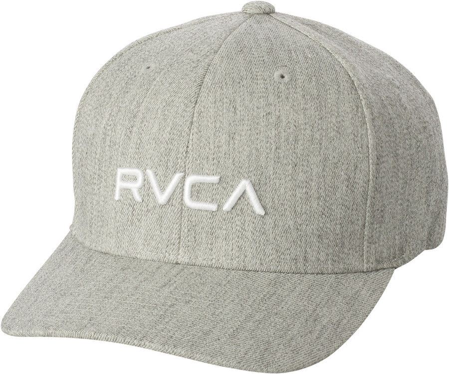 RVCA Flex Fit Baseball Hat Light Grey Heather