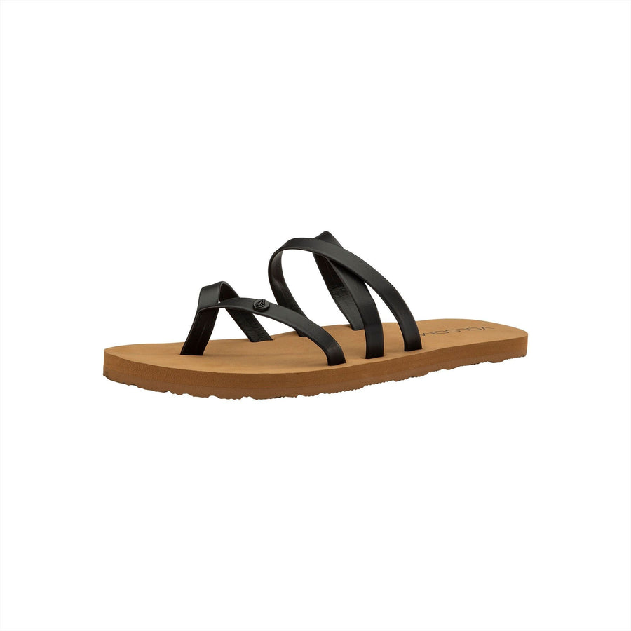 VOLCOM Easy Breezy Sandals Girls Black FOOTWEAR - Youth Sandals Volcom 12