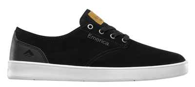 EMERICA Romero Laced Shoes Black/ Black/ White FOOTWEAR - Men's Skate Shoes Emerica 10
