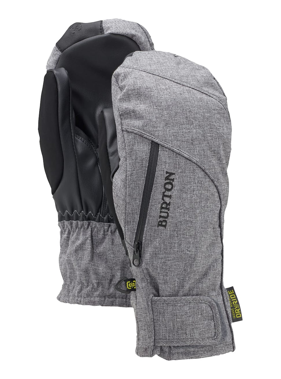 BURTON Baker 2-In-1 Under Mitt Women's Bog Heather WINTER GLOVES - Women's Snowboard Gloves and Mitts Burton S