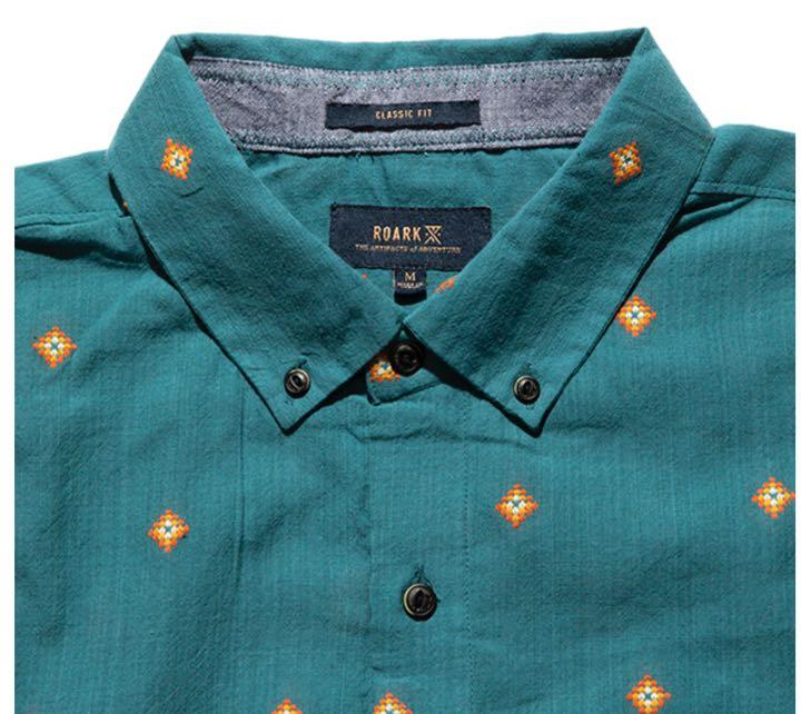 ROARK Kemang S/S Button Up Marine Blue