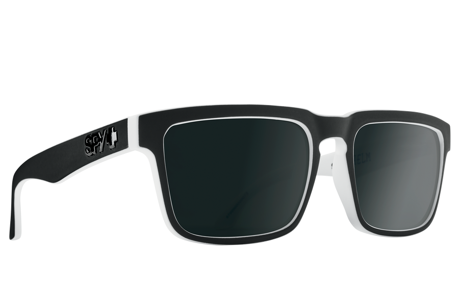 SPY Helm Whitewall - HD Plus Grey Green With Black Spectra Mirror Polarized Sunglasses