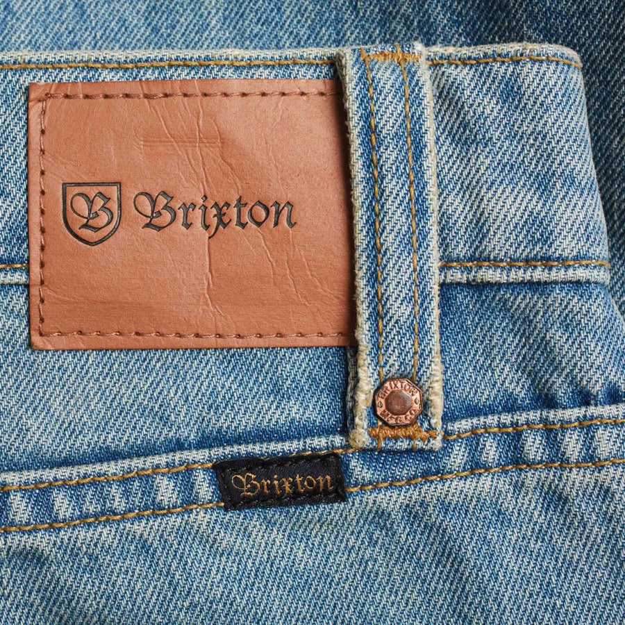 BRIXTON Labor 5-PKT Denim Pant Faded Indigo