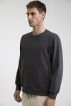 RHYTHM Essential Crewneck Sweatshirt Charcoal MENS APPAREL - Men's Sweaters and Sweatshirts Rhythm