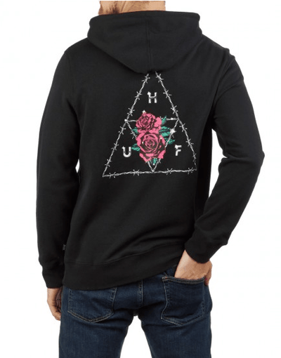 HUF Dystopia Pullover Hoodie Black MENS APPAREL - Men's Pullover Hoodies huf L