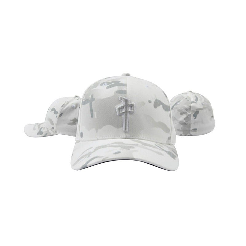 RDS OG Puffy Flexfit Hat White Camo MENS ACCESSORIES - Men's Baseball Hats RDS