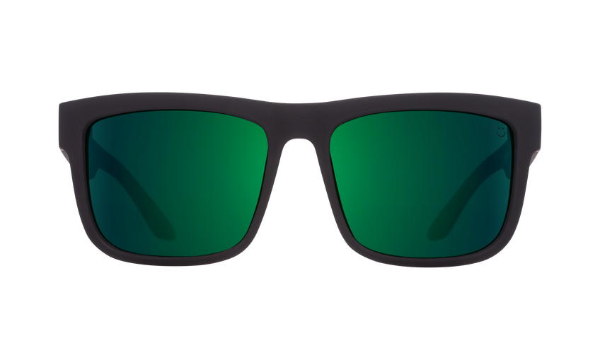 SPY Discord Soft Matte Black/Green Fade - Happy Grey Green with Green Flash