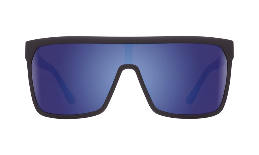 SPY Flynn Soft Matte Black - Happy Bronze w/ Dark Blue Spectra Sunglasses