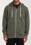 BILLABONG All Day Zip Hoodie Dark Military