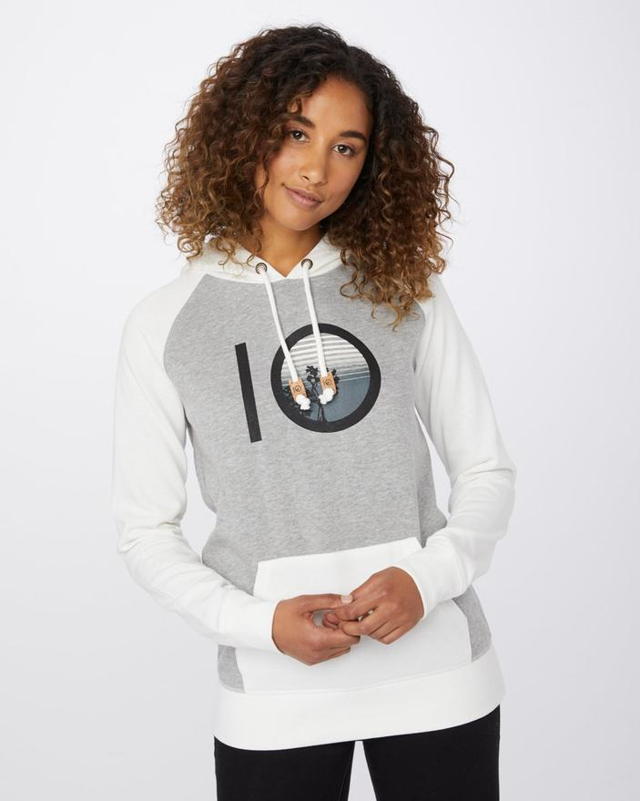 TENTREE Sunset Ten Pullover Hoodie Women's Lunar Rock/Marshmallow