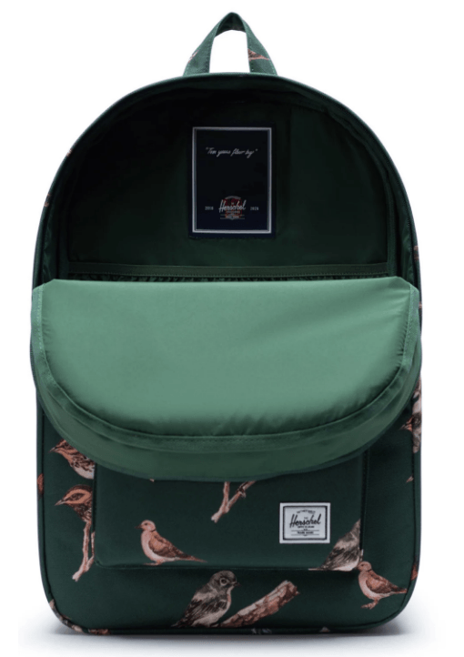 HERSCHEL Heritage Backpack Dark Green Birds ACCESSORIES - Street Backpacks Herschel Supply Company