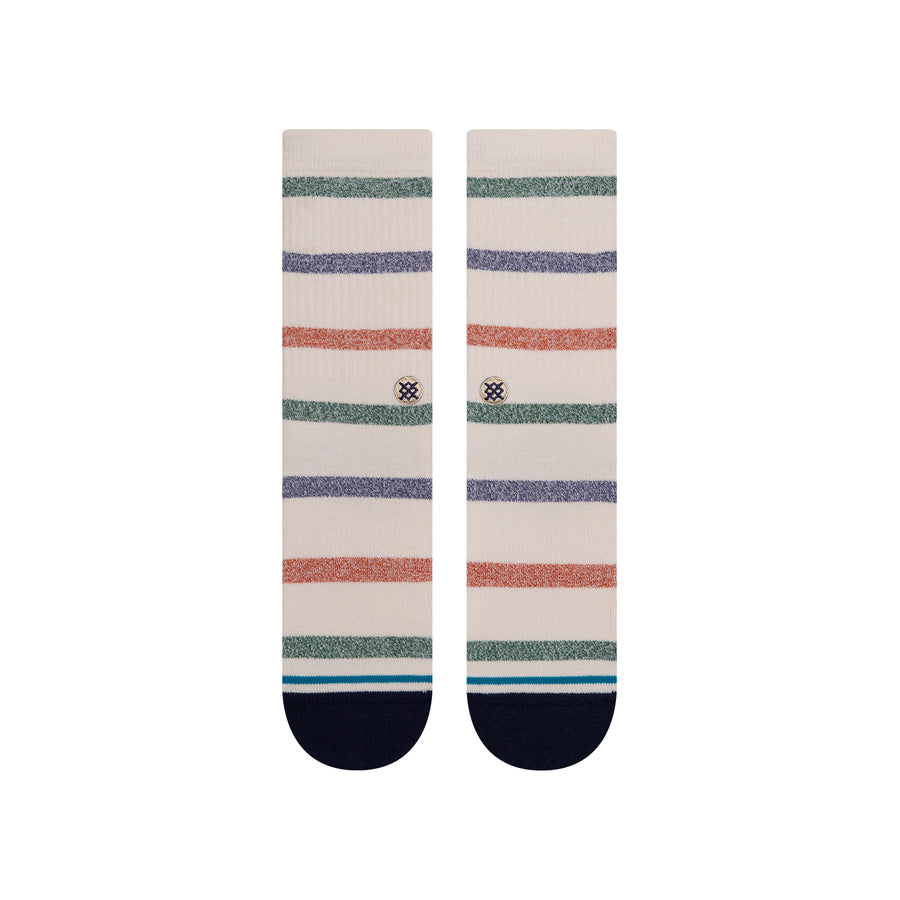 STANCE Forget Me Not Crew Socks Tan MENS ACCESSORIES - Men's Socks Stance