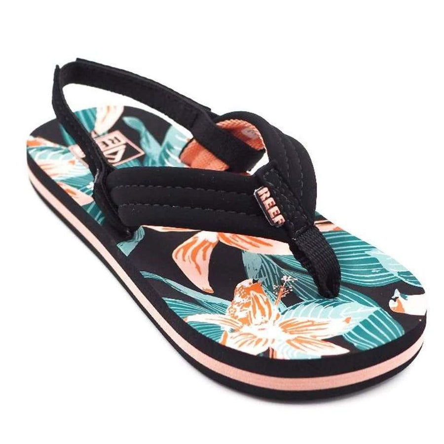 REEF Little Ahi Sandals Girls Hibiscus FOOTWEAR - Youth Sandals Reef 3/4