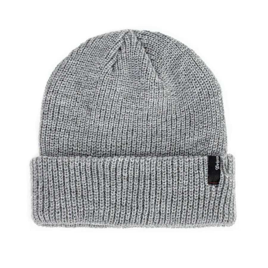 BRIXTON Heist Beanie Light Heather Grey MENS ACCESSORIES - Men's Beanies Brixton